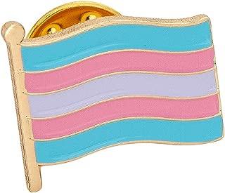 Transgender Flag Lapel Pin Enamel Made of Metal Souvenir Hat Men Women Patriotic (Waving Flag Lapel Pin)