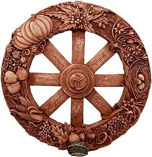Ebros The Sabbats Wheel of The Year Wall Plaque Featuring Eight Pagan Festivals Sabbats By Maxine Miller