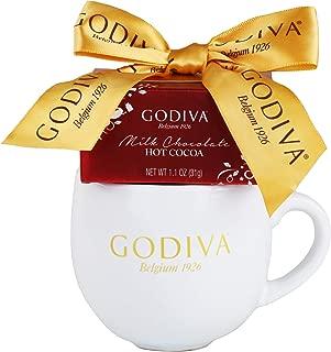The Godiva Holiday Cocoa Mug Gift Set | Contains Ceramic Mug & Godiva Milk Chocolate Hot Cocoa