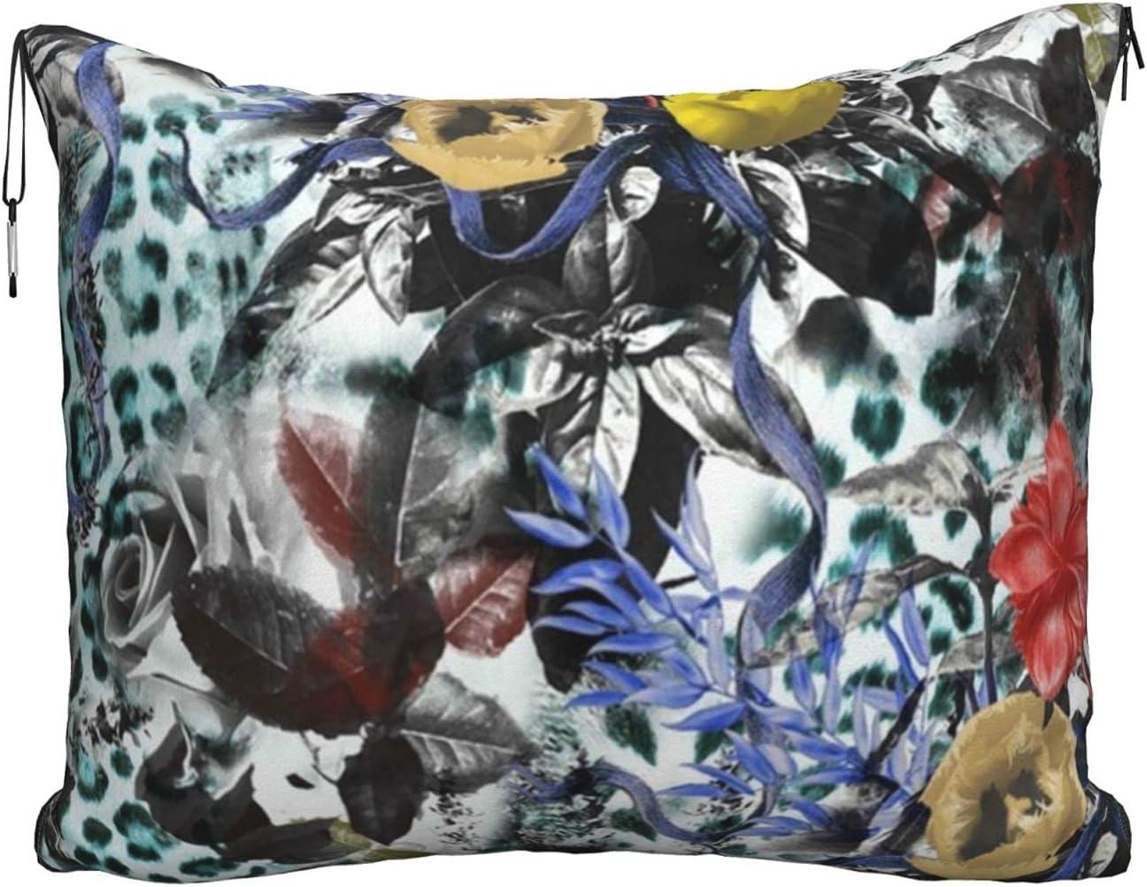 Mescchskred and Yellow Flower Print Pillow Combo Travel Max 49% OFF Blanket Ultra-Cheap Deals