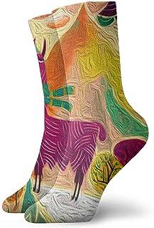 iuitt7rtree, Calcetines de Tobillo de Alpaca Casual Divertido para Botas de Deporte Senderismo Running Etc. socks7488