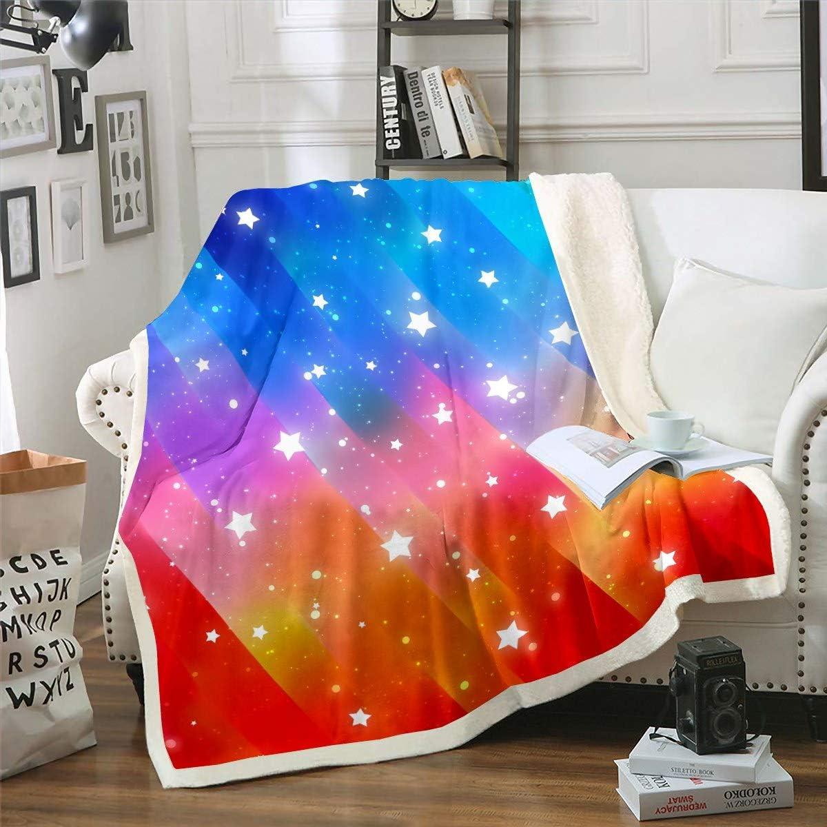 Ranking TOP9 Feelyou Girly Glitter Galaxy Sherpa Blanket Kids Milwaukee Mall Sk Girls Starry