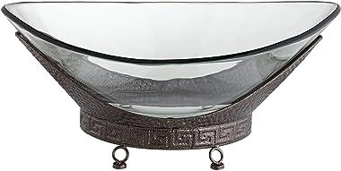"Kensington Hill Barlow 23 1/4"" Wide Decorative Glass Bowl with Bronze Base"