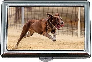 Cigarette Holder Case,Dog Runs Dog Racing Dog Runs Pet Photography,Business Card Holder Business Card Case Stainless