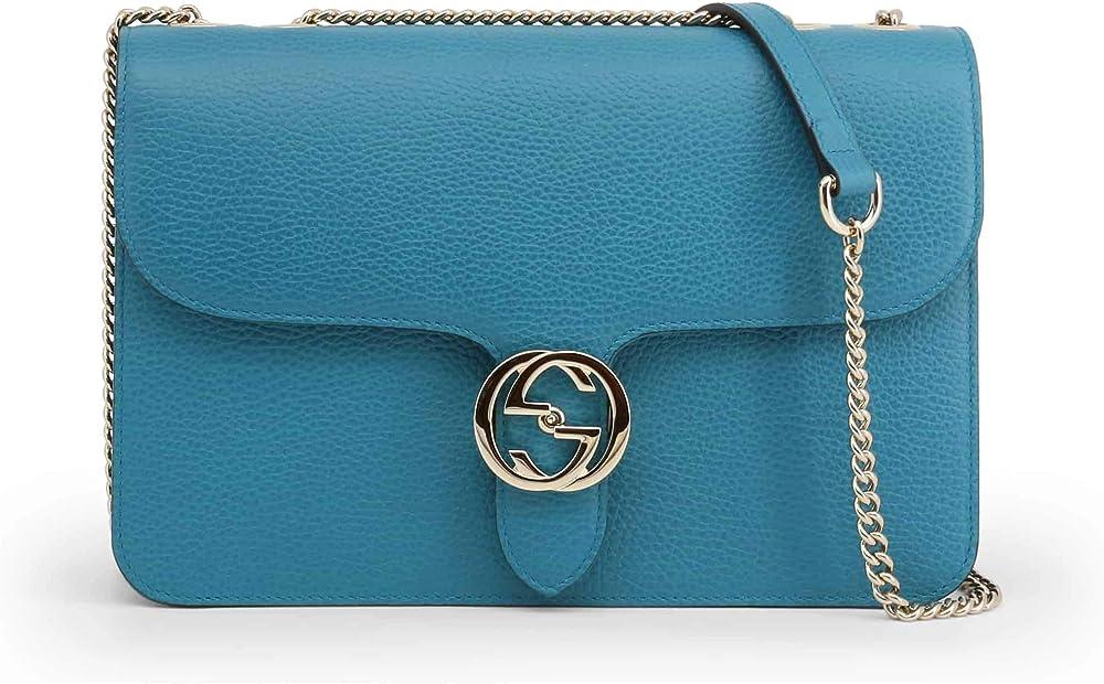Gucci  orange leather crossbody bag borsa donna 8050750427826
