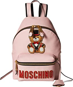 Medium Teddy Logo Eco-Leather Backpack