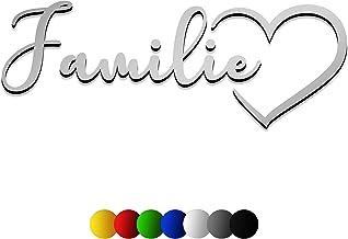 3D muursticker FAMILIE van hout met het lettertype | Flostina | in 7 verschillende kleuren en 3 maten. Spreuken voor de ke...