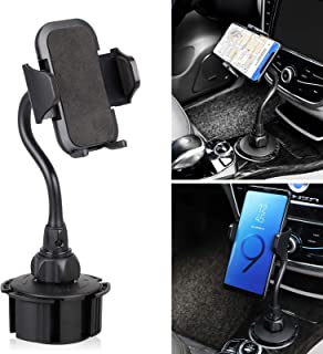 EEEKit Car Cup Holder Phone Mount, Adjustable Long Arm Cell Phone Holder with 360° Rotatable Cradle for Most Smartphones, Compatible with iPhone X/Xs Max/ 8 Plus, Samsung Galaxy S10/ S9 /S8/ Note 9