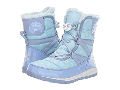 SOREL Kids Disney X Sorel Whitneytm Short Lace Elsa (Little Kid/Big Kid) (Frosted Purple/Pure Silver) Girls Shoes