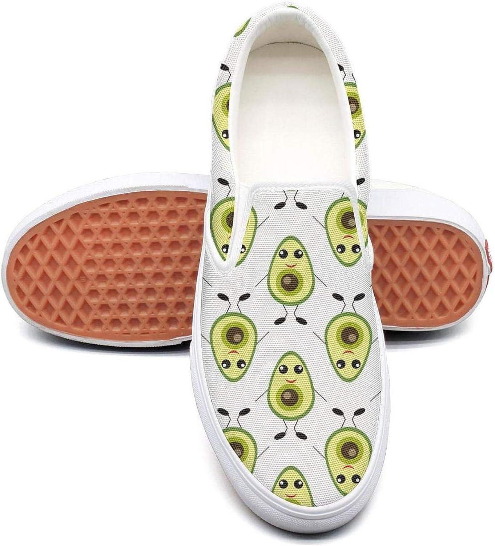 Refyds-es Funny Avocado Fruit Hug Womens Fashion Slip on Low Top Lightweight Canvas Cloth shoes