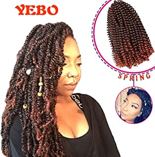 4 pack spring twist crochet braiding hair Ombre Colors Synthetic Hair Extensions T350