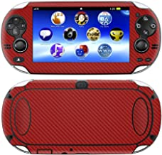 Decalrus – Playstation PSP Vita RED Carbon Fiber Skin Skins Decal for case Cover..