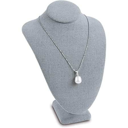 Durable Necklace Display Rack Bust Mannequin Jewelry Display Holder New Gray