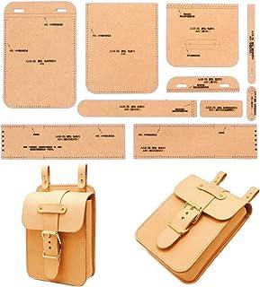 [アイランドパピー] レザークラフト 硬質紙製 型紙 革 長 財布 バッグ カバン 説明シート付き (ウエストスクエア)