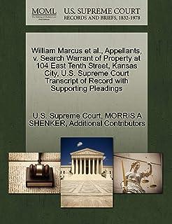 William Marcus et al., Appellants, V. Search Warrant of Property at 104 East Tenth Street, Kansas City, U.S. Supreme Court...