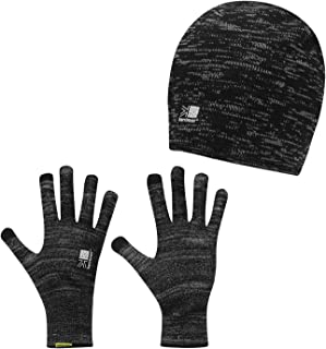 MENS GREY FIRETRAP VENT CABLE KNIT GLOVES KNITTED WINTER