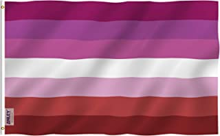 Anley Fly Breeze 3x5 Foot Lesbian Pride Flag - Vivid Color and UV Fade Resistant - Canvas Header and Double Stitched - Lesbian Pride Flag with Brass Grommets 3 X 5 Ft
