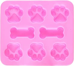 JLHua Finger Ring 2 Pack Food Grade Large Mats Trays, Puppy Paws and Bones Silicone Molds, Bake Treats for Pets, Kids, Dog-Lovers, Kitchen Tips
