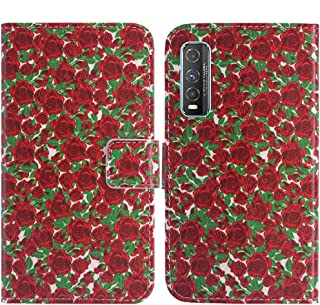 TienJueShi Rosa Flower Fashion Stand TPU Silicone Book Stand Flip PU Leather Protector Phone Case For Vivo Y70t 6.53 inch ...