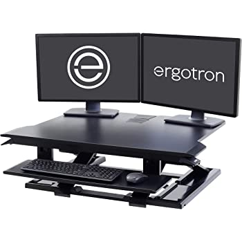 Ergotron - WorkFit-TX Standing Desk Converter - for Tabletops – 32 Inches, Black