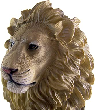 Wowser Large Full Color Cast Resin Lion Statue, 21 Inch