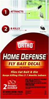 Ortho Home Defense Fly Killer Window Decal, 2-Pk