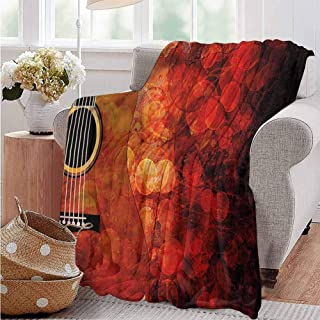 AndyTours Baby Blanket,MusicAcoustic Guitar Body Melody,Baby Small Fleece Blanket W39x39L