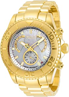Invicta Men's Pro Diver Quartz Watch with Stainless Steel Strap, Gold, 24 (Model: 29965)