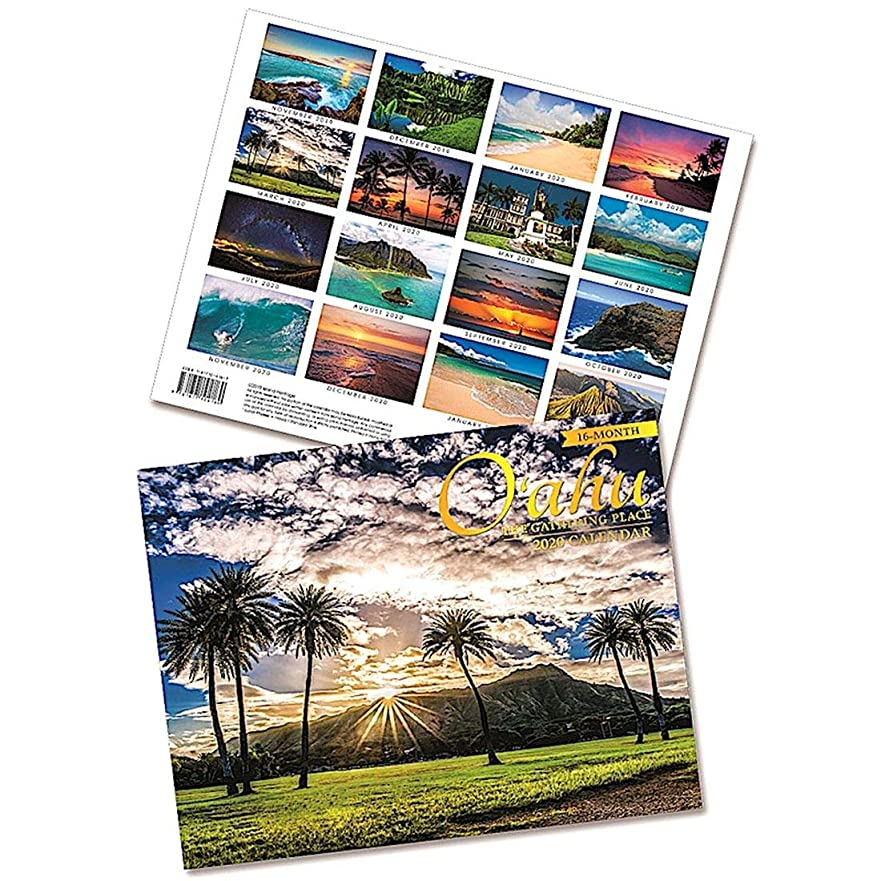 カード政策アカデミックハワイアン雑貨 2020年 ハワイ フォト カレンダー (オアフ/Oahu) アイランドヘリテイジ