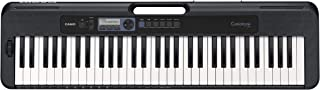 Casio 61 Touch-Sensitive Keys, Pitch-Bend Wheel Portable Electronic Keyboard in Black with AC Adapter Included, CTS300AD-GEN