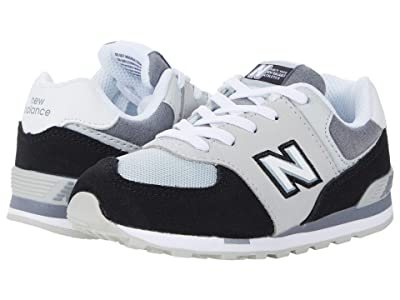 New Balance Kids 574 Varsity Sport (Infant/Toddler) (Black/Light Aluminum) Boy