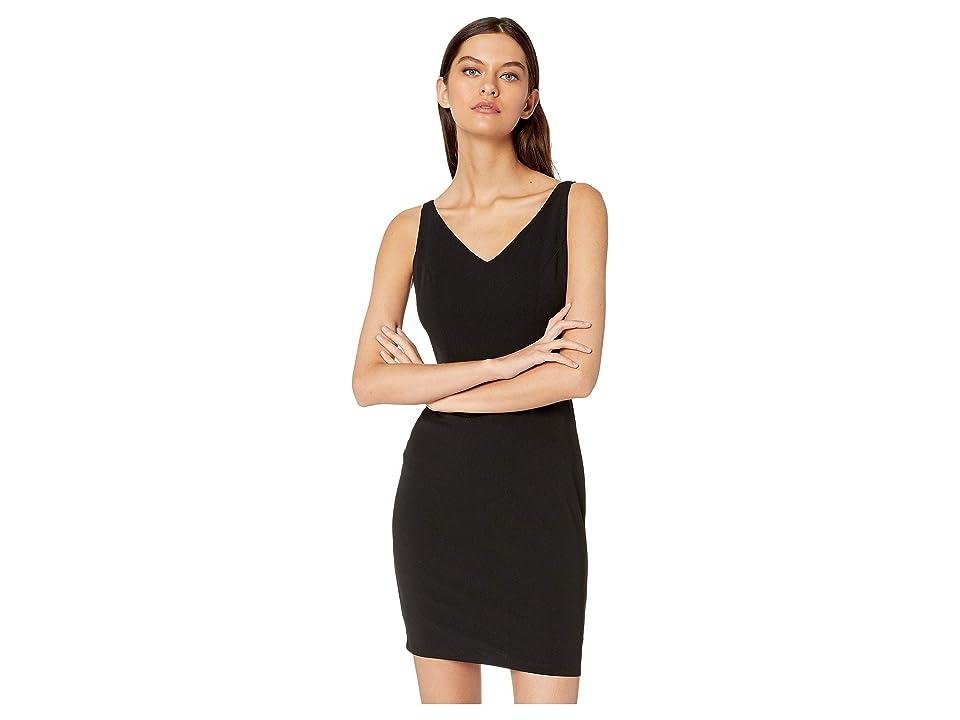 Bebe V-Neck Sleeveless Dress (Black) Women