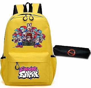 Friday Night Funkin Backpack,17 Inch Laptops Backpack Adjustable Shoulder Strap Bookbag with Pencil Case for Men Women