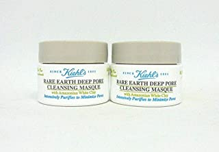 Kiehl's Rare Earth Deep Pore Cleansing Masque & Daily Cleanser Travel Size, Set of 2