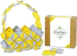Fancy Shapes - DIY Kit for Girls - Art & Crafts for Girls - Felt Craft Kit - Educational Toys for 6 to 12 Age Kids