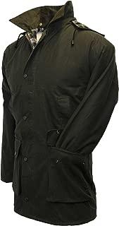 Walker & Hawkes - Mens Unpadded Wax Jacket Countrywear Hunting Waxed Coat - Olive