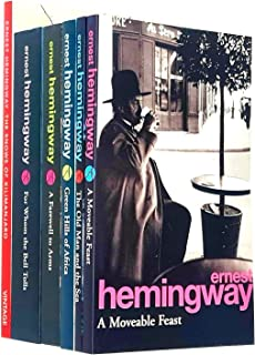 Ernest Hemingway Collection 6 Books Set (For Whom The Bell Tolls, The Snows Of Kilimanjaro, The Old Man and the Sea, A Far...