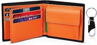 TEEHON® Portafoglio Uomo Slim Vera Pelle Blocco RFID, con Tasca Portamonete, 2 Scomparti Banconote, 8 Porta Carte di Credi...