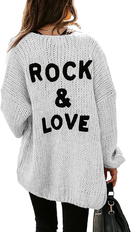PRETTYGARDEN Women's Long Sleeve Knit Cardigans Draped Sweaters Soft Open Front CardiganSweaters Coats Loose Outerwear