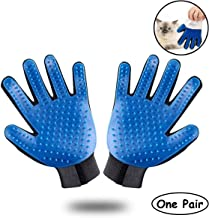 Ootori Pet Grooming Glove - Gentle Deshedding Brush Glove - Efficient Pet Hair Remover Mitt - Enhanced Five Finger Design - Perfect for Dog & Cat with Long & Short Fur - 1 Pair