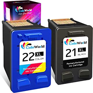 ColoWorld Remanufactured Ink Cartridge Replacement for HP 21 22 21XL 22XL Used with HP OfficeJet 5610 4315 J3680 DeskJet F...