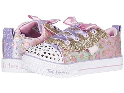 SKECHERS KIDS Twinkle Toes Shuffle Lite 314022N (Toddler/Little Kid) (Light Pink/Multi) Girl