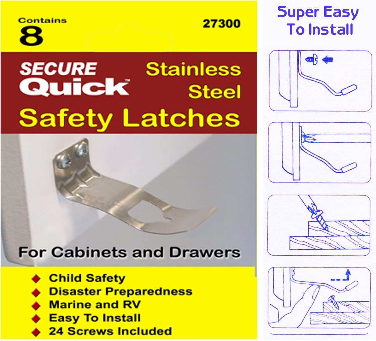 Secure Quick Cabinet Door Latch cheap Soldering Safety