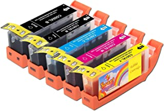 Edible Ink Cartridges for Canon CLI-271 & PGI-270 5 Pack works with MG5720, MG6820, TS5020, TS6020,