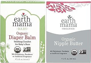 Earth Mama 2-Piece Gift Set, Organic Diaper Balm and Organic Nipple Butter Breastfeeding Cream