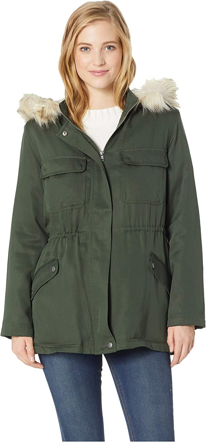 cupcakes and cashmere Women's Angelique Shearling Lined Anorak W/Removable Hood