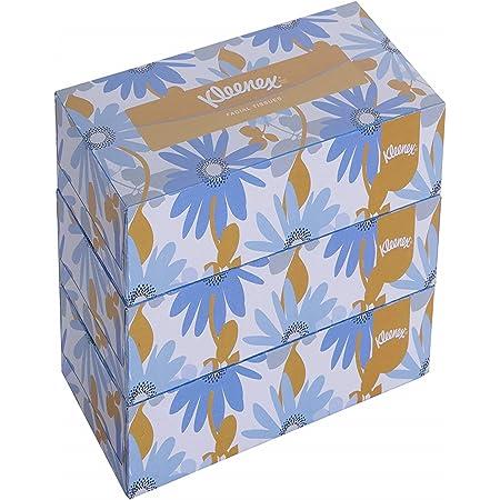 KLEENEX® Facial Tissue Box 60038 - 2 ply Flat Box Facial Tissue - 3 Tissue Boxes x 200 Face Tissues - Sheet Size 21 x 21 cm (600 facial tissue)