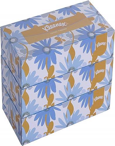 KLEENEX® Facial Tissue Box 60038-2 ply Flat Box Facial Tissue - 3 Tissue Boxes x 200 Face Tissues - Sheet Size 21 x 2...