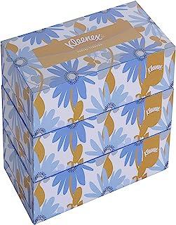 KLEENEX® Facial Tissue Box 60038 - 2 ply Flat Box Facial Tissue - 3 Tissue Boxes x 200 Face Tissues - Sheet Size 21 x 21 c...