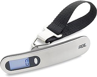 ADE KW1600 báscula digital para equipaje Ben, Capacidad 50 Kg, Tara, Autohold, acero y plástico, color Gris